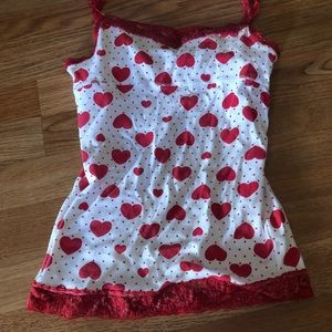 Justice L/14 red heart camisole